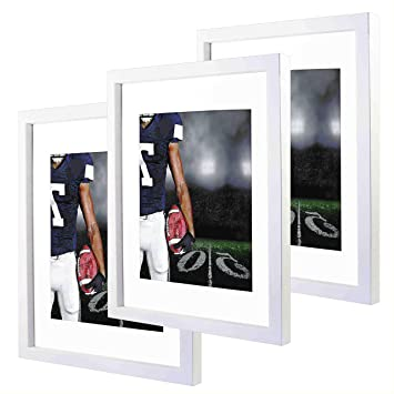Amazoncom 11x14 White Picture Frames With 8x10 Mat For Wall And