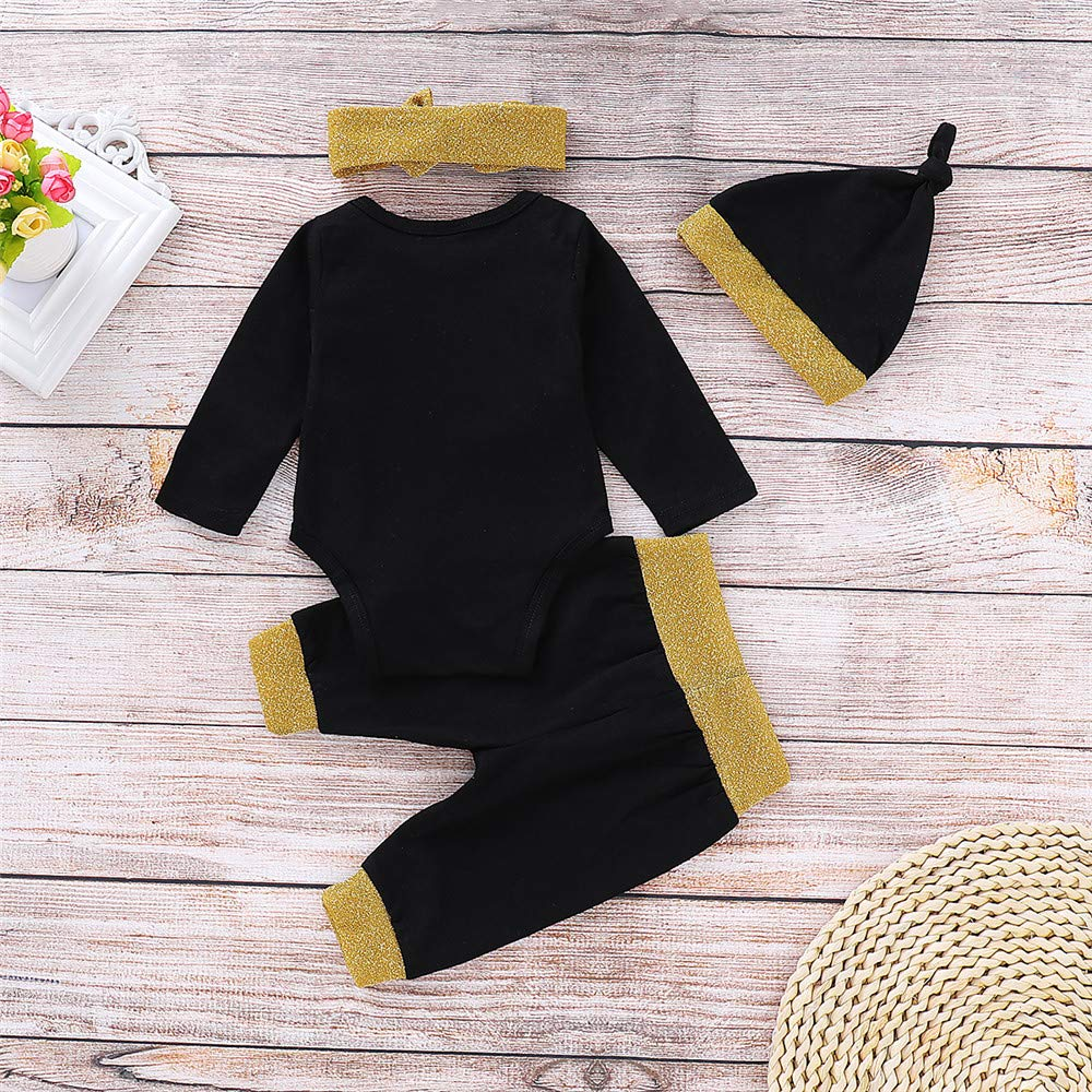 3861039590c3 Amazon.com  Mikrdoo Bbay Christmas Outfit My First Years 2019 Black ...