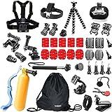 Underwater Action Camera Accessories Kit Bundle for Gopro Hero 5/4/3+2/1 Session Silver Black Camera APEMAN;YI 4K Campark ACT74/76 & NEXGADGET (42 Items)