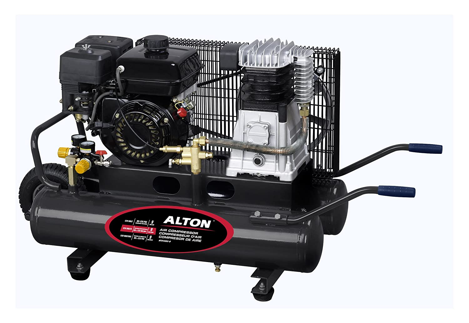 Alton AT01303-9L 6.5HP 9-Gallon Wheelbarrow Compressor - Air Compressors - Amazon.com