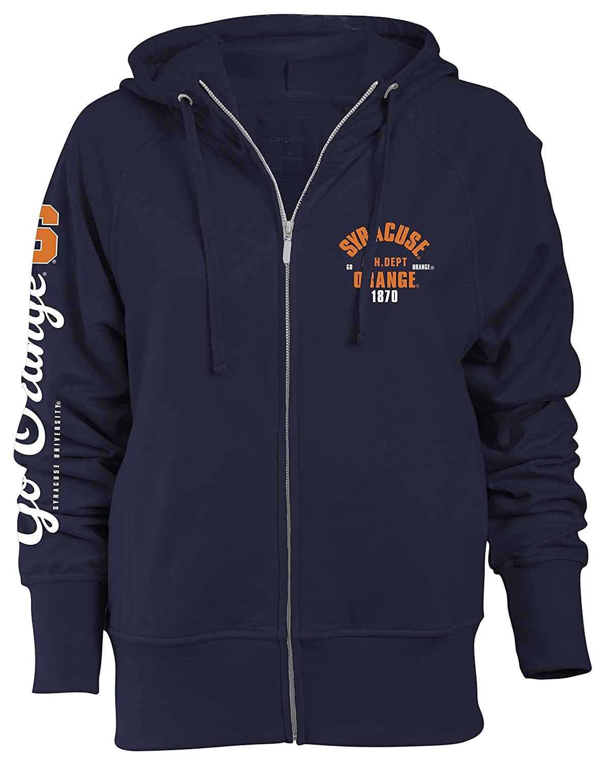available various colors stable quality Camp David NCAA Syracuse Orange Slouch Fit Full Zip Hood, Navy, Large