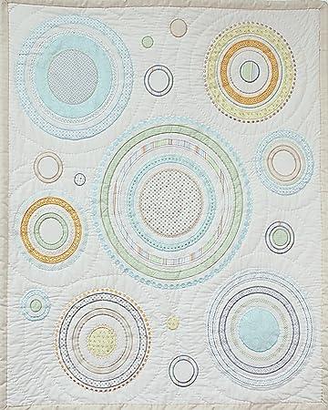 Amazon.com: Círculos & sarga de algodón de mano acolchada ...