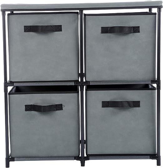 Amazon Com Lapha 4 Drawers Wardrobe Storage Armario Shelf Chest
