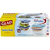 Glad Food Storage Containers, Variety Pack, 18 Pieces