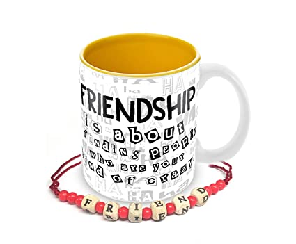 Buy Tuelip Friendship Quotes Minions Printed Mug with Free ...
