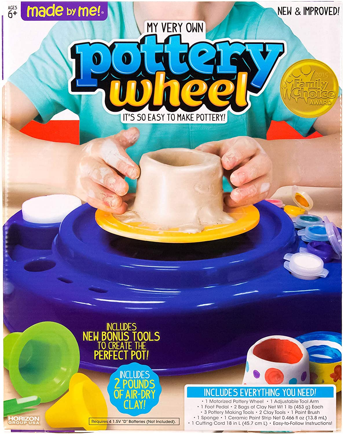 Made By Me My Very Own Pottery Wheel Kit by Horizon Group USA