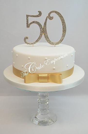 Oblique Unique 50 Geburtstag I Goldene Hochzeit I Jubilaum Kuchen