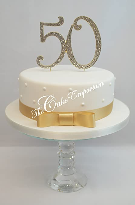 50th Wedding Anniversary Cakes.Gold 50th Birthday Or Wedding Anniversary Cake Topper Extra Large