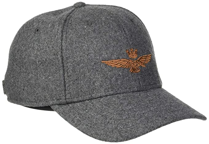 Aeronautica Militare Cappellino, Gorra de béisbol para Hombre, (Grigio Melange Scuro 17203)