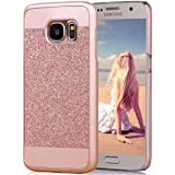 S7 Case, Galaxy S7 Case, Imikoko™ Rose Gold Luxury Hybrid Beauty Crystal Rhinestone With Gold Sparkle Glitter PC Hard Protective Diamond Case Cover For Samsung Galaxy S7 (Rose Gold)