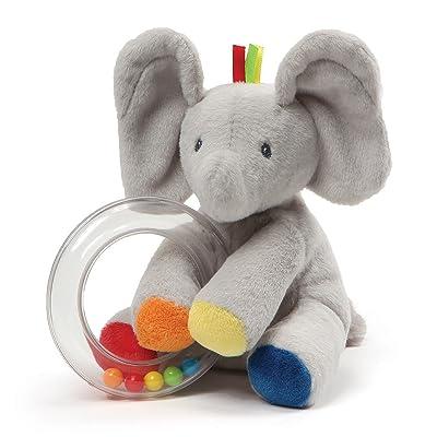 "Baby GUND Flappy the Elephant Stuffed Animal Rattle Plush Toy, 5"": Toys & Games"