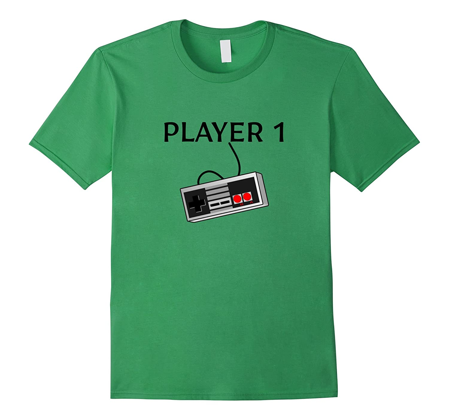 Player 1 Old School Retro Style Gamer - T Shirt-FL