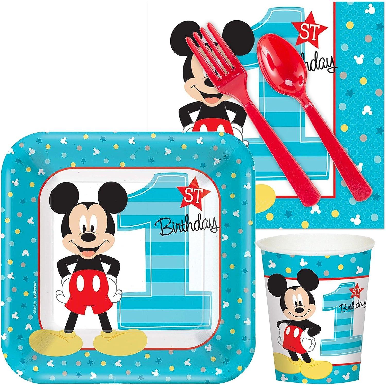 Amazon.com: Disney Mickey Mouse 1er cumpleaños Snack Pack ...
