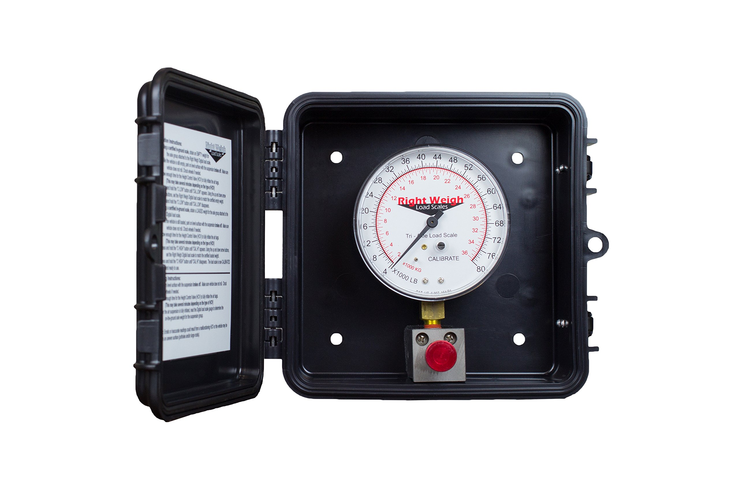 310-80-M3 Tri-Axle Exterior Analog Load Scale - for Dual Height Control Valve Air Suspensions