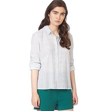 MONOPRIX FEMME - Chemise bicolore à carreaux - Femme - Taille   46 - Couleur    f47485136aaa