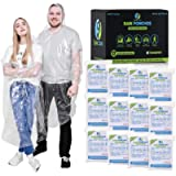 Clear Rain Ponchos for Adults Disposable - Premium (12 Pack) 50% Thicker - Waterproof Plastic Survival Emergency Rain…