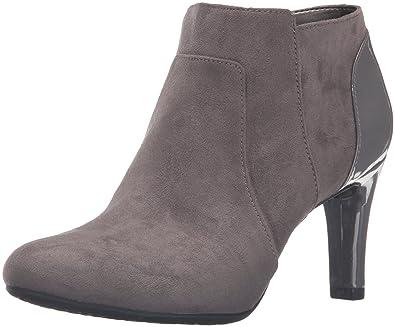 Bandolino Women's Liron Ankle Bootie, Grey, ...