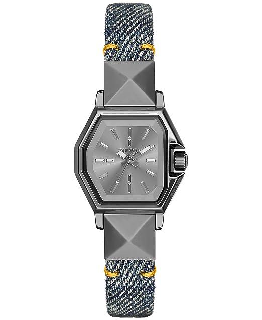 Diesel dz5444 Z copia de seguridad de la mujer analógico de cuarzo azul reloj: Amazon.es: Relojes