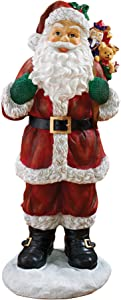 Christmas Decorations - A Visit from Santa Claus and his Bag of Christmas Toys Holiday Decor Statue