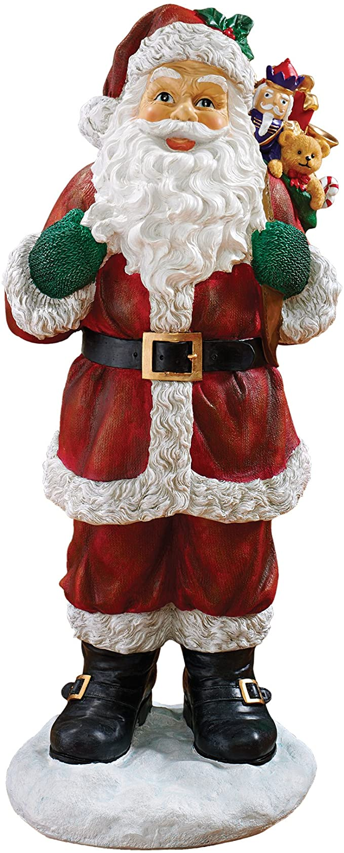 Amazon Com Christmas Decorations A Visit From Santa Claus And His Bag Of Christmas Toys Holiday Decor Statue Garden Outdoor