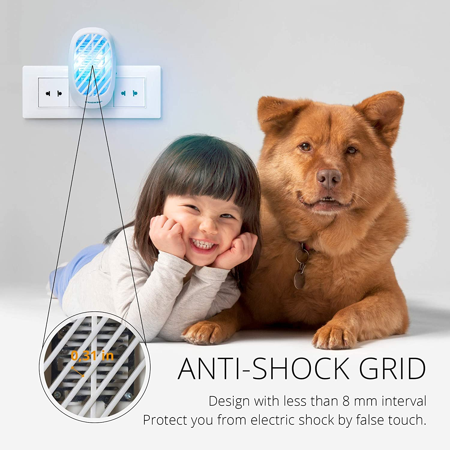 Indoor Mosquito Killer Electric Insect Repellent Mosquito Trap Crioxen Indoor Plug-in Bug Zapper Gnat Trap for Mosquitoes Fruit Flies and Flying Gnats Pack of 2