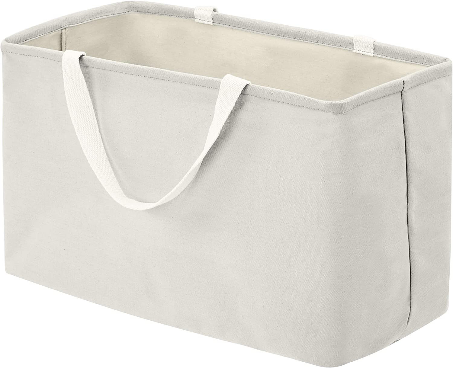 AmazonBasics Fabric Storage Bin - Large Rectangle, Light Grey