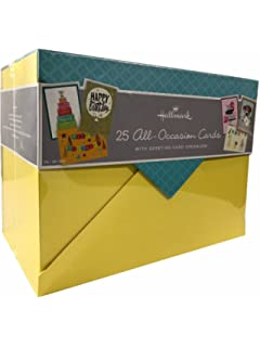 Amazon paper magic all occasion handmade and embellished hallmark 25 all occasion cards with greeting card organizer m4hsunfo