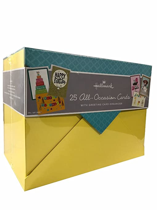 Amazon hallmark 25 all occasion cards with greeting card hallmark 25 all occasion cards with greeting card organizer reheart Image collections