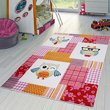T&T Design Tapis Chambre d\'enfant À Carreaux Multicolore ...
