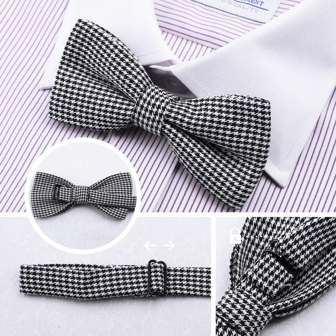 DBE0167 Groomsmen Pre-Tied Microfiber Bow ties Popular For Teen 3 Pack Bow Tie Set By Dan Smith by Dan Smith (Image #1)
