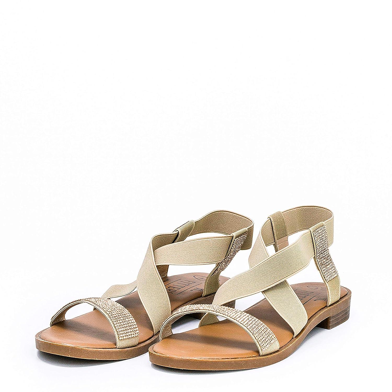 Synthétiques Dames Fits Avec Et Basique Strasseu Footwear Élastique Bande Sandale That Fitters Lynn Z0X8OkwnPN