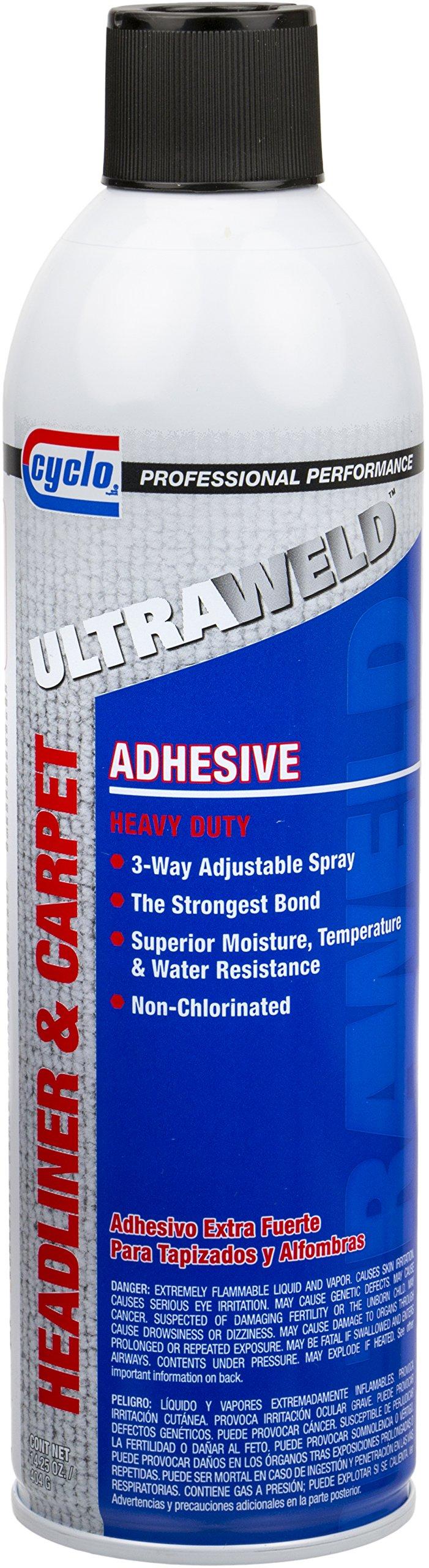 Niteo Cyclo ULTRAWELD Headliner & Carpet Adhesive, Aerosol Spray, 14.25 fl oz, Case of 12