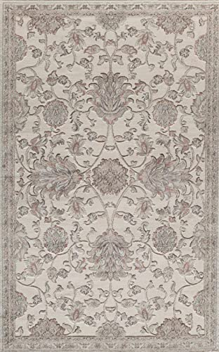 Rugs America RV600C Area Rug, 8 x 10 , Cream
