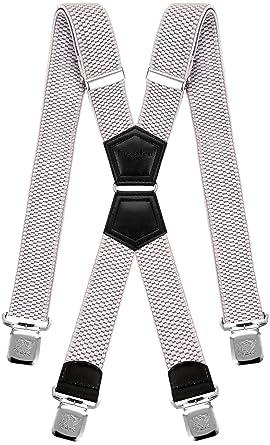 Decalen Bretelles pour Hommes Une Taille Convient Tous Les Clips Forts  Style X Diverses Couleurs ( f619dc067709