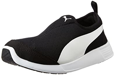 Puma Unisex St Trainer Evo SlipOn Black and White Sneakers  10 UK