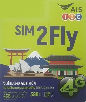 Asia 12 Países Prepago SIM 3 GB 8 días 4 G/3G SIM tamaño ...