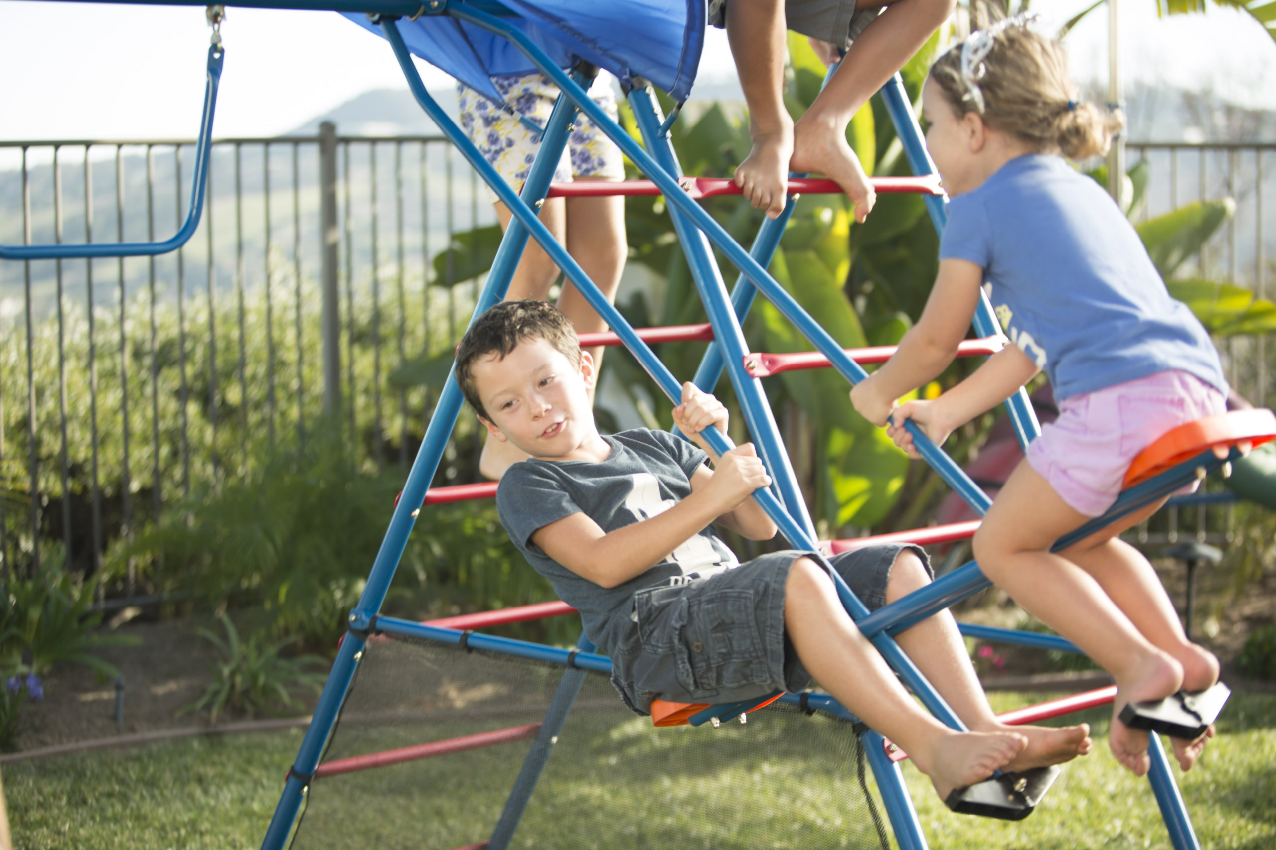Ironkids Challenge 100 Metal Swing Set with Ladder Climber and UV Protective Sunshade by IRONKIDS (Image #4)