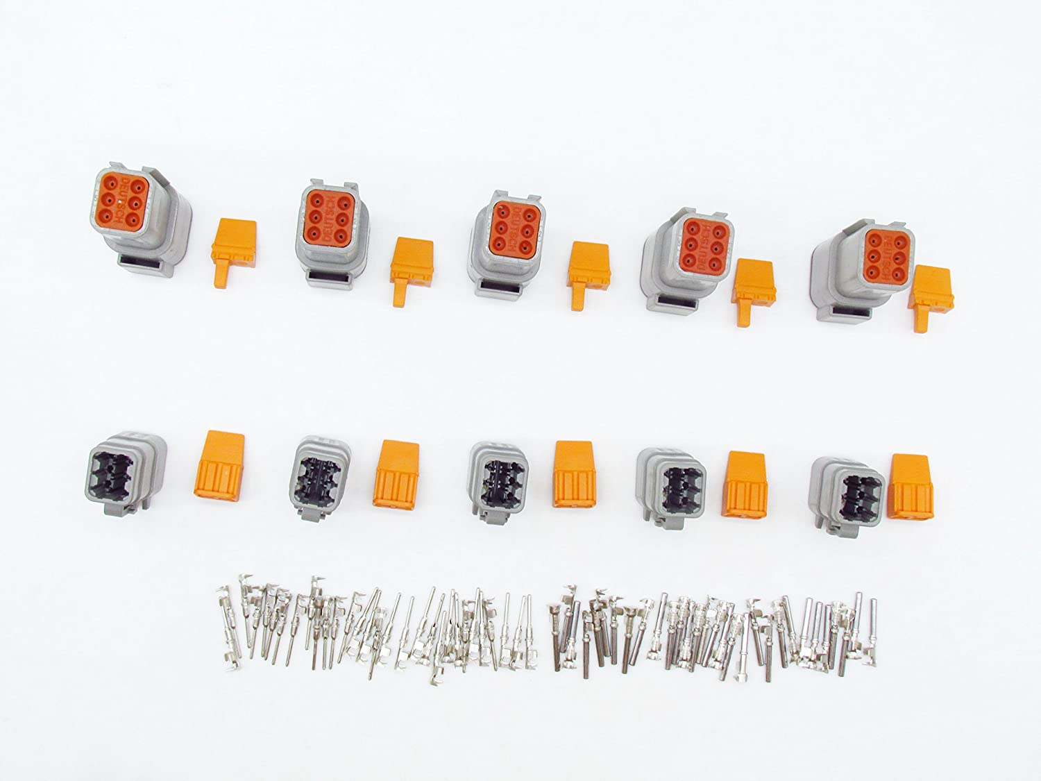 CNKF 5 Sets DTM06-6S DTM04-6P 6 pin way female male auto connectors