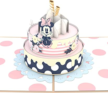 Super Amazon Com Lovepop Disney Minnie Mouse Birthday Cake Pop Up Card Personalised Birthday Cards Paralily Jamesorg