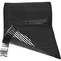 Duroflex adhesivos laterales color negro 20X500 cm
