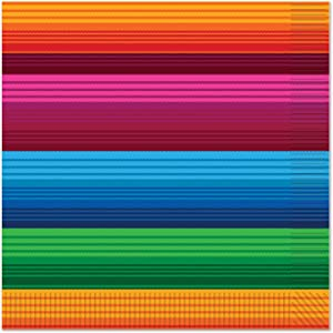 Beistle Fiesta Theme And Design Luncheon Napkins, Multicolored