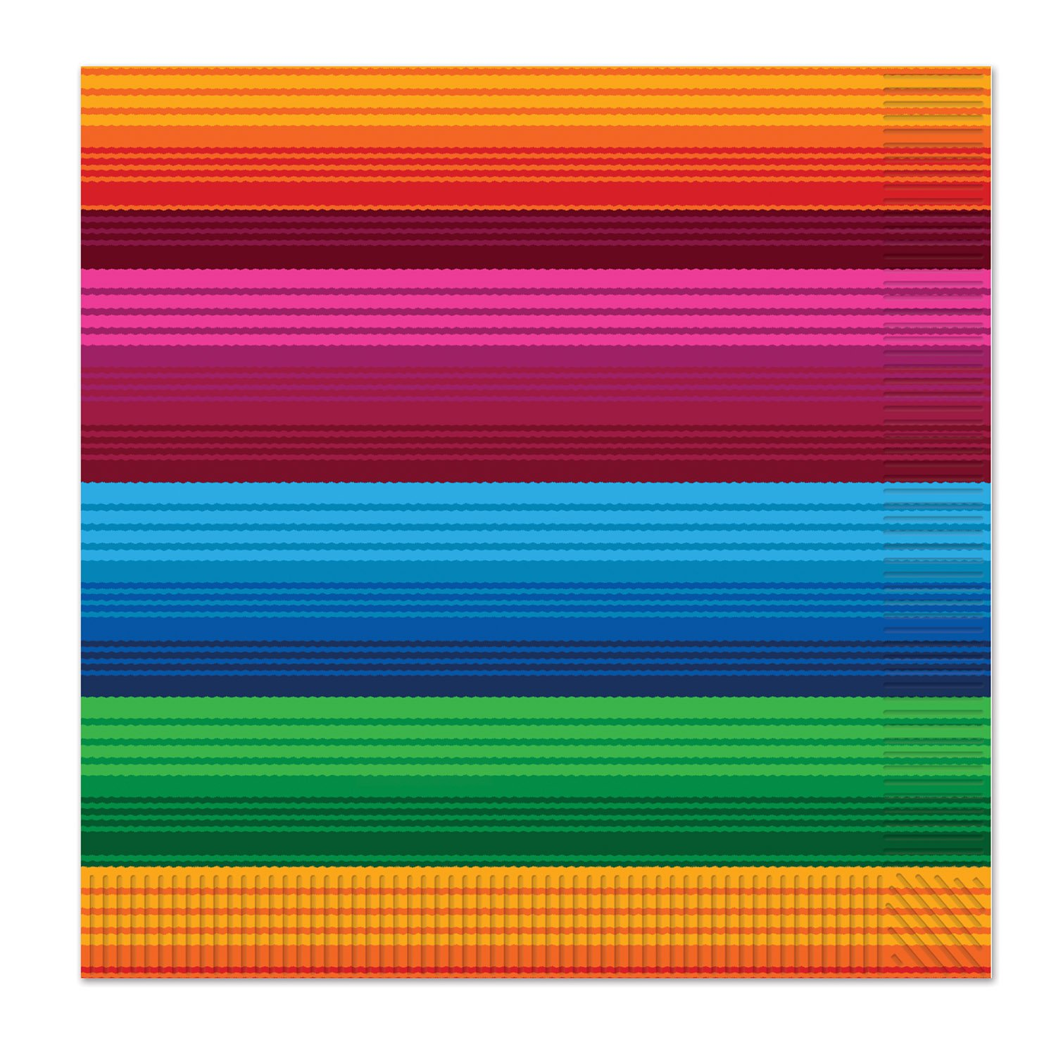 Beistle Fiesta Luncheon Napkins, Multicolored (Value 3-Pack) by Beistle