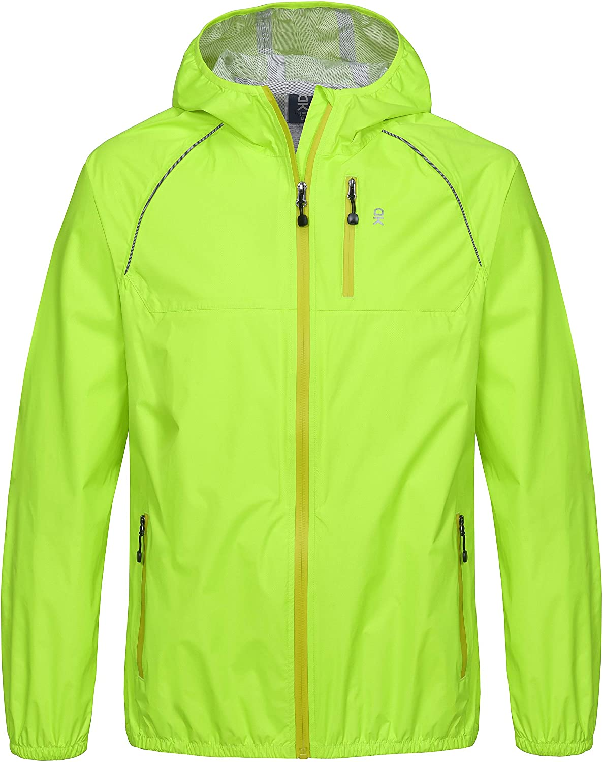 Windproof and Waterproof Ultralight Packable Little Donkey Andy Womens Rain Cycling Bike Jacket with Hood
