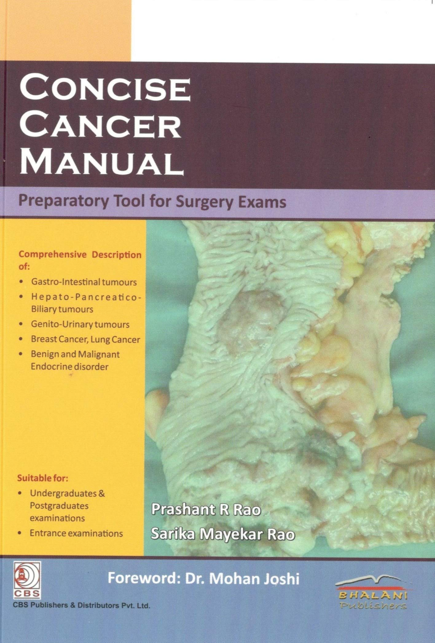 Concise Cancer Manual preparatory tool for surgery exams