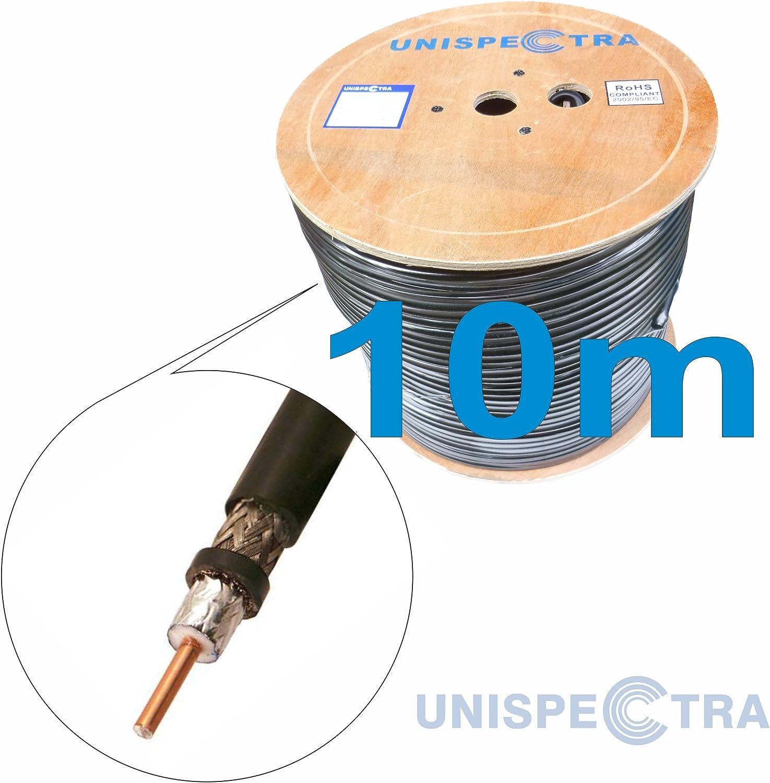 - R/écepteurs Amateurs pour WiFi GSM 3G 4G S400 Antennes//R/écepteurs /équivalent LMR400 C/âble de coaxial tr/ès Faible 50 Ohm R/ép/éteurs Radio