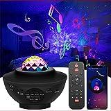 Projetor de Galaxia Estrelas PINKK com 21 Modos, Música LED Nebula Oceano Sky Light, Projetor de Luz Noturna para Decoração d
