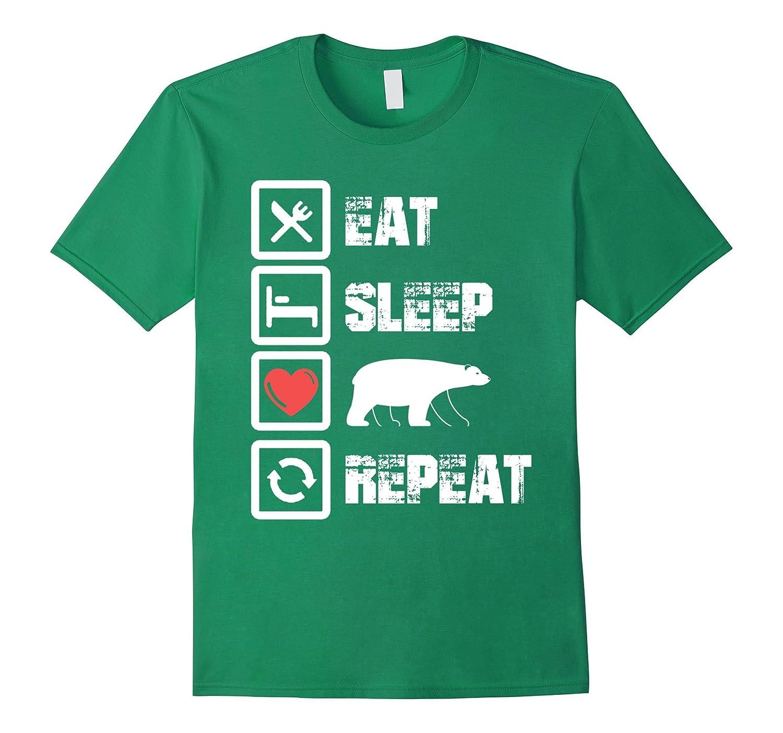 eat sleep love Polar-Bear repeat - lovely t shirt-FL