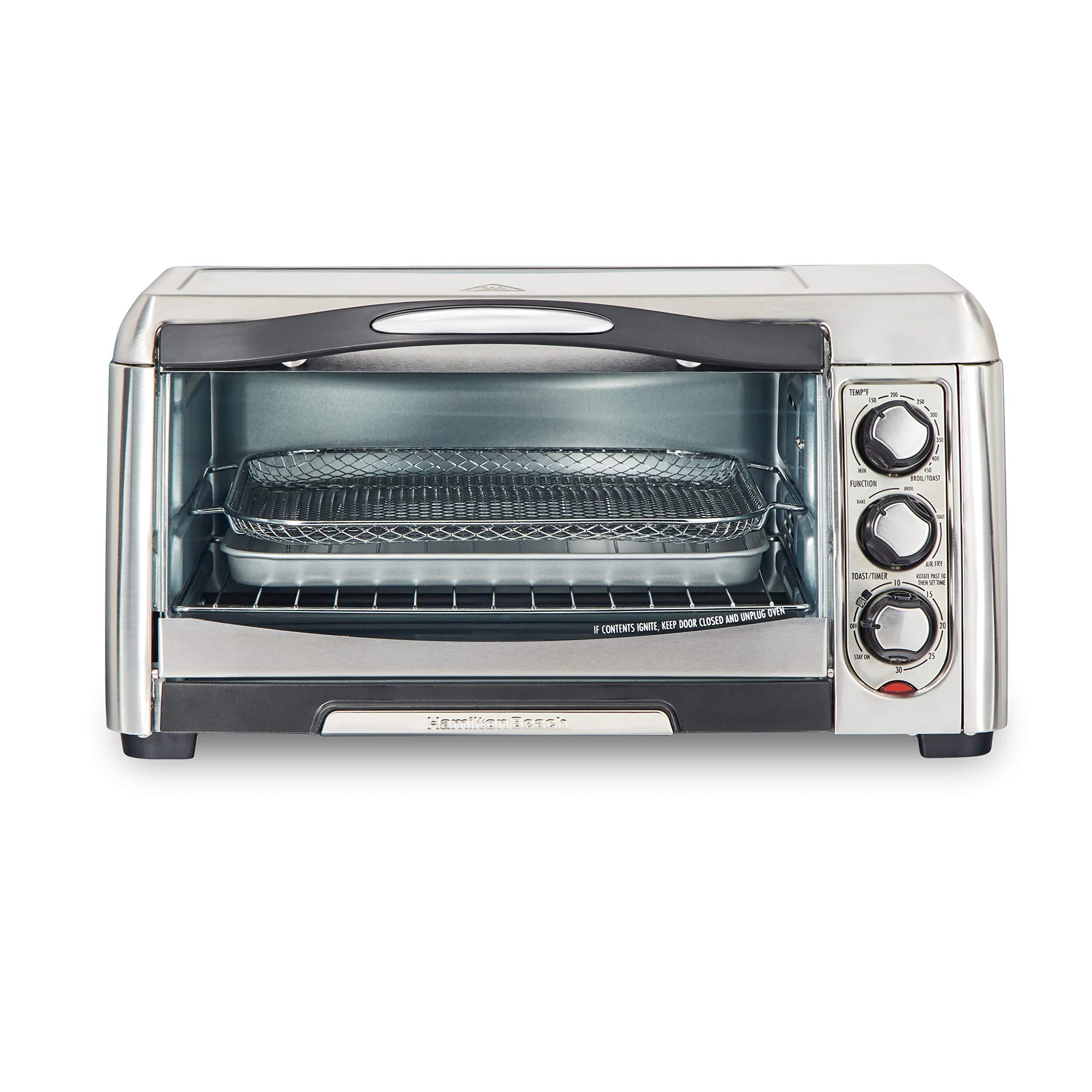 Hamilton Beach 31323 Sure-Crisp Air Fry Toaster Oven, 6 Slice Capacity, Stainless Steel by Hamilton Beach