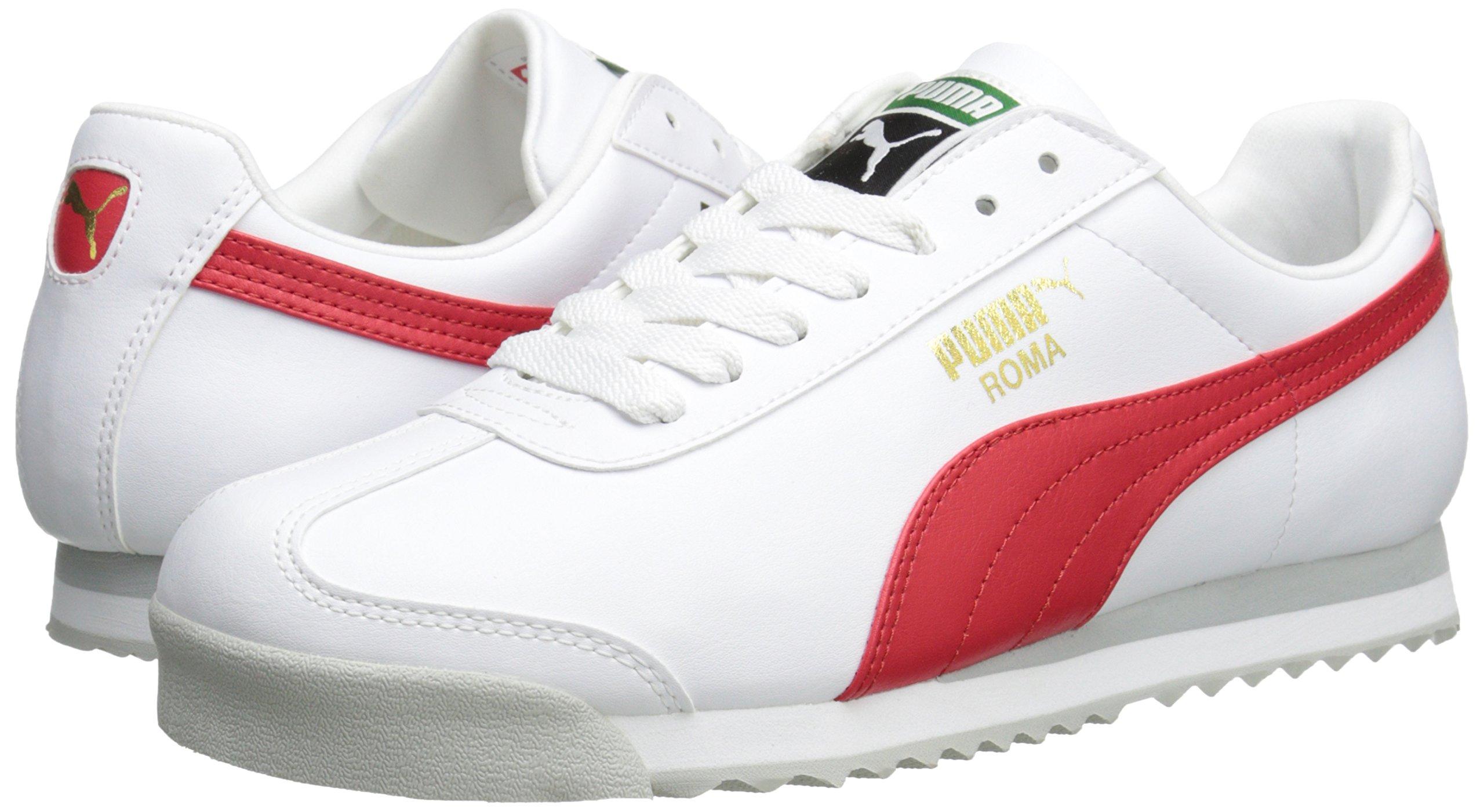 PUMA Men's Roma Basic Fashion Sneaker, White/High Risk Red/White - 9 D(M) US by PUMA (Image #6)