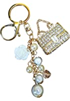 AM Landen Rhinestone Handbag Style Key Chain Best Friends Keychain Gift Key Chain